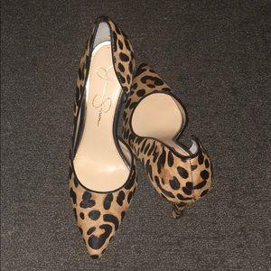 Leopard Print Jessica Simpson d'Orsay Pumps Size 8